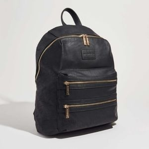 The Honest Company City Black Backpack Diaper Bag